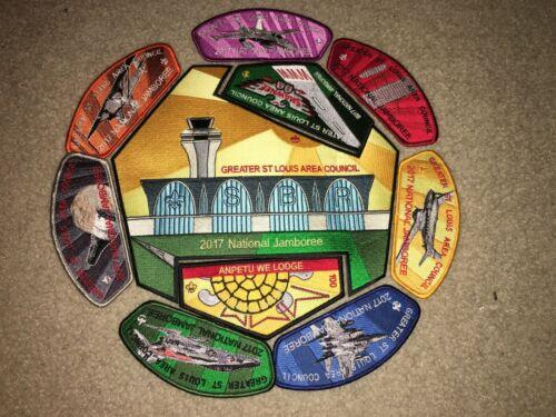 Boy Scout Anpetu We 100 St. Louis Council 2017 National Jamboree JSP Patch Set