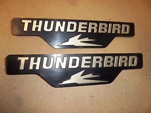 TRIUMPH 650cc 1982 THUNDERBIRD TR65 SIDE COVER PANEL BADGE MOTIF (PR) 83-8191