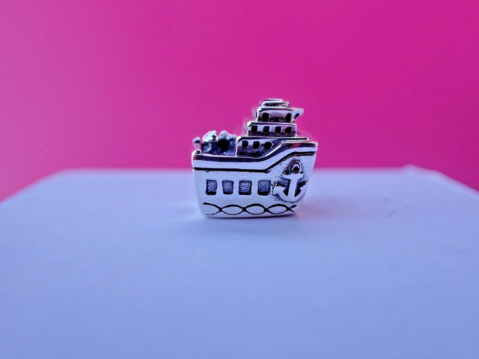 New w/Tag  Authentic Pandora All Aboard Cruise Ship Charm 791043