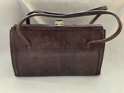VINTAGE GENUINE LIZARD SKIN LADIES EVENING BAG