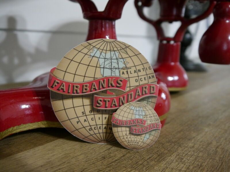 Fairbanks Standard Scale Restoration Decals Vintage Style(x2) (Large/Small)
