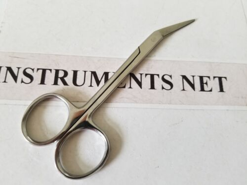 "Super Cut Iris Scissors 4.5"" Angled Serrated Blade, Dermal Surgical Instruments"