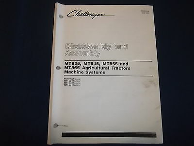 Caterpillar Mt835 Mt845 Mt855 Mt865 Tractor Machine Systems Disassembly Manual