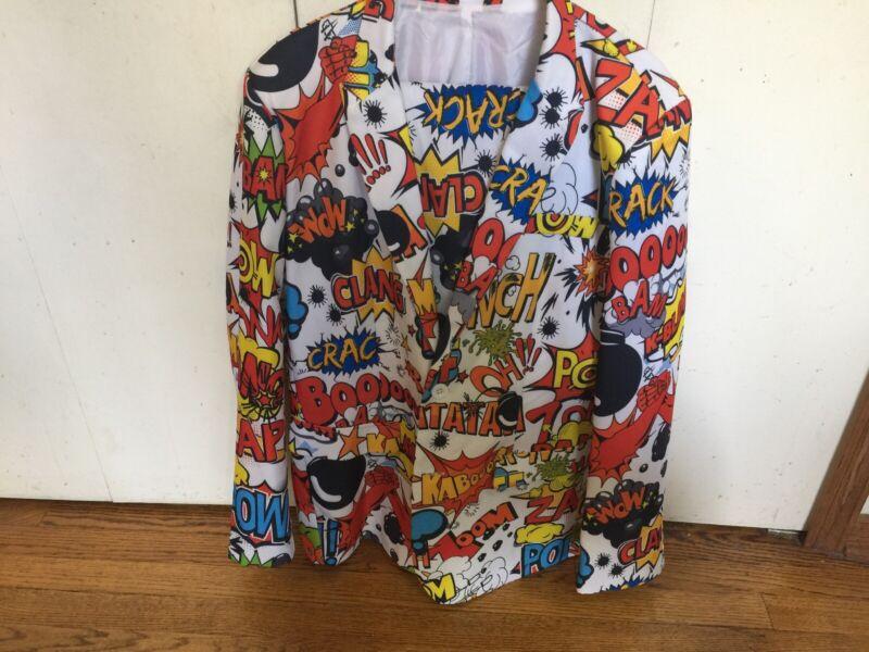 Halloween Mens BADABOOM! POW! Spirit Halloween Coat And Pants