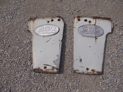 Farmall 560 Tractor Original Ihc Ih Front Radiator Side Hood Panels Emblems