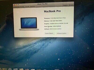 MACBOOK PRO 2009  - 13.3 4GB - INTEL CORE 2 DUO 2.53GHZ - 250 GB - 221 CICLES