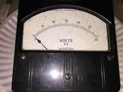 Vintage Weston Panel Meter Volts Dc Model 961 Free Shipping
