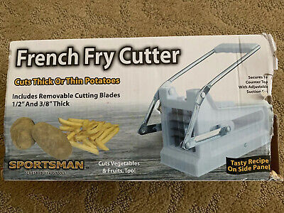 Sportsman French Fry Cutter Cuts Thick Thin Potatoes Cut Vegetable Fruitstoo