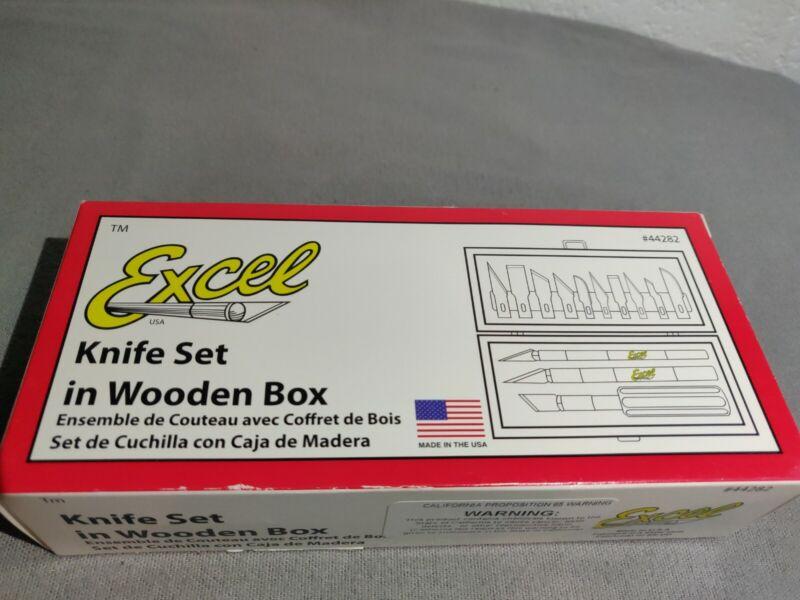 New Excel 44282 Hobby K1/K2/K5 Duty Knife Wood Carving Set + Blades.
