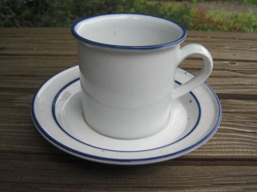 """Vintage Dansk Denmark Blue Mist Coffee Mug Cup 3"""" Saucer Blue Stamp NR Refsgaard"""