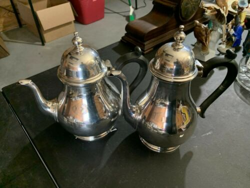 Antique Tiffany & Co. Makers Sterling Silver Teapot & Coffee Pot 1840 grams