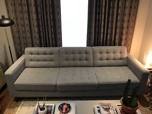 """92"""" EQ3 Reverie Mid-Century Tufted Sofa"""