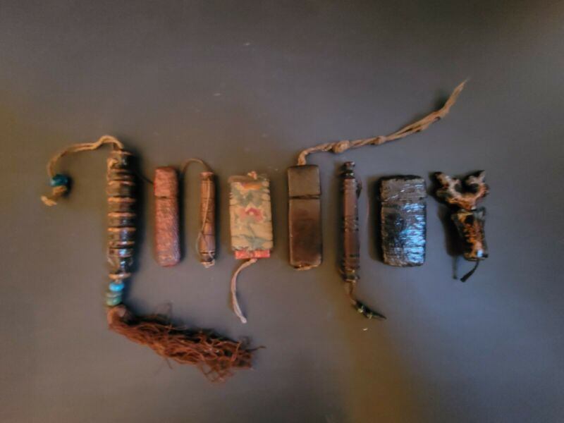 Antique Chinese Hand-Made Needle Cases (Lot of 8)
