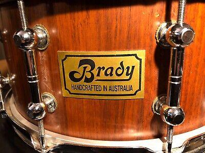 Brady Snare Drum. 14X6.5 Jarra wood shell