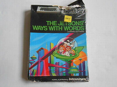 The Jetsons Ways With Words Learning software Mattel Intellivision 1983 new