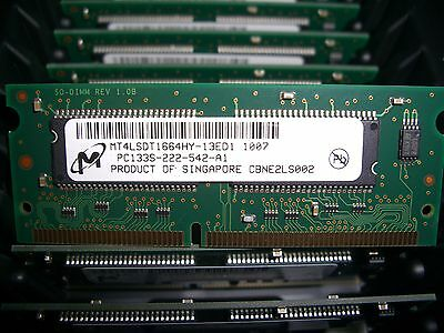 Mt4lsdt1664hy 13Ed1 Micron Technology 128Mb Sdram 133Mhz 144 Pin Pc133