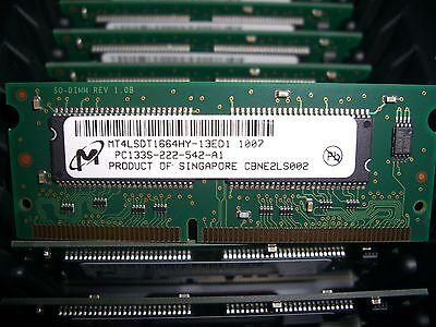 Mt4lsdt1664hy 13Ed1 Micron Technology 128Mb Sdram 133Mhz 144 Pin Pc133