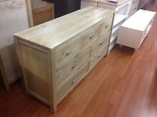 Solid timber chest of drawers low boy elm oak limed Manly Manly Area Preview