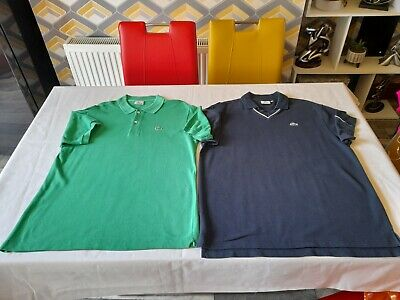 2 Mens Authentic Lacoste Polo Shirts Bundle/Top/Size 5/Good Condition