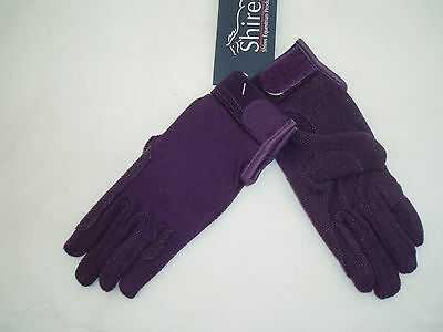 Childrens Horse Riding Gloves Purple Small (approx 7-8yrs) by Shires