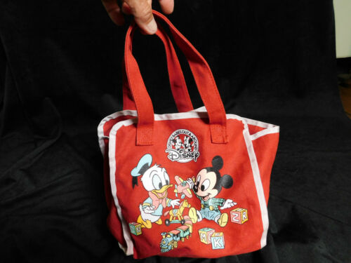 BABY MICKEY MOUSE blocks Disney Playtime Friends tote DONALD DUCK Red Rare bag