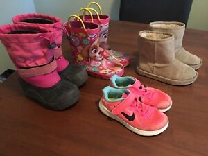 Girls shoes size 10-11 $10 or $25 for all 4