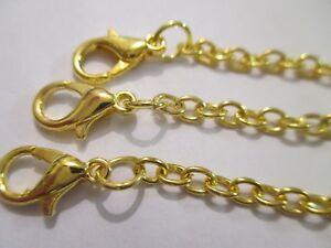 UK 3 Pieces 8CM Gold Extension Link Necklace/Bracelet Jewellery Extender Chain