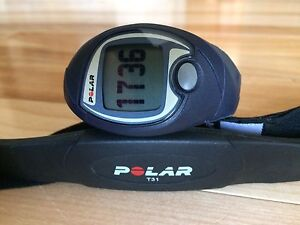 Polar Exercise watch and heart rate band.
