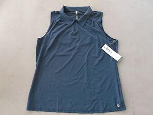 Lija-umidita-Wicking-donna-t-shirt-polo-da-golf-Blackberry-XL