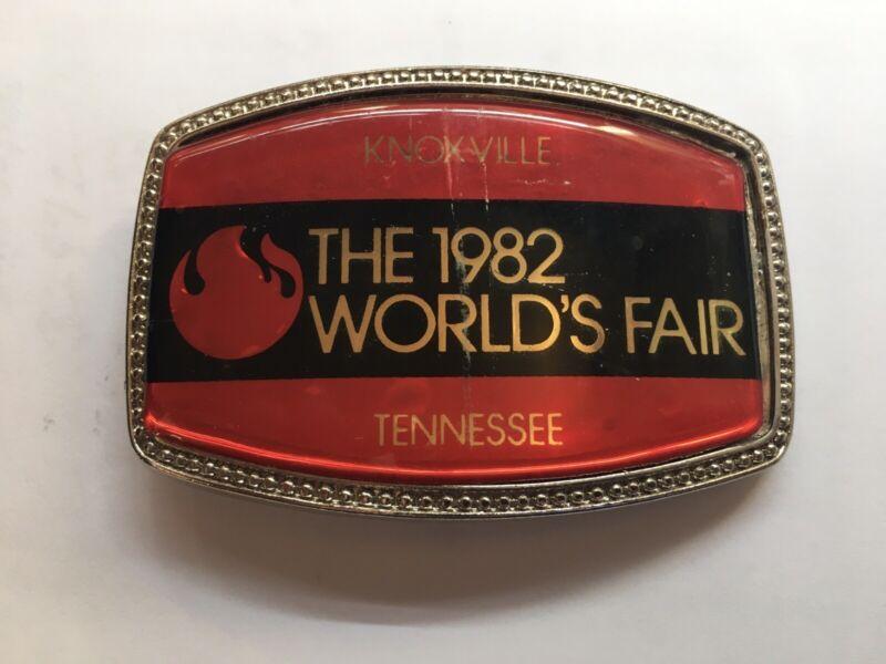 1982 World's Fair Belt Buckle ~ Knoxville, Tennessee