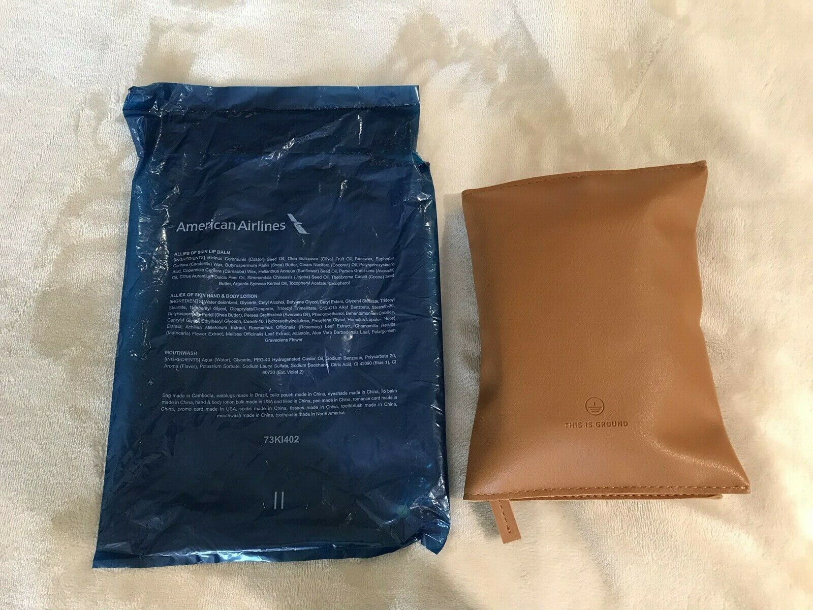 American Airlines AA This Is Ground Internat. Business Class Amenity Kit Sealed  - $11.99