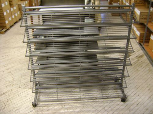 INDUSTRIAL RETAIL SHELVING STEEL SHOE DISPLAY RACK