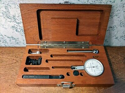 Brown Sharpe .00005 Inch Dial Indicator W Case Accessories