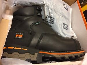 TIMBERLAND BOONDOCK SAFETY BOOT BLACK AND BROWN