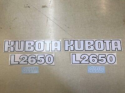 Kubota L2650 Hood Decals