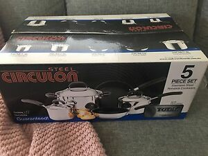 Circulon Steel 5 Piece Cookware Set - Brand New Kensington South Perth Area Preview