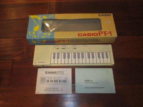 Casio Computer Co. PT 1 Keyboard W/ MANUAL & ORIGINAL BOX EXCELLENT COND.