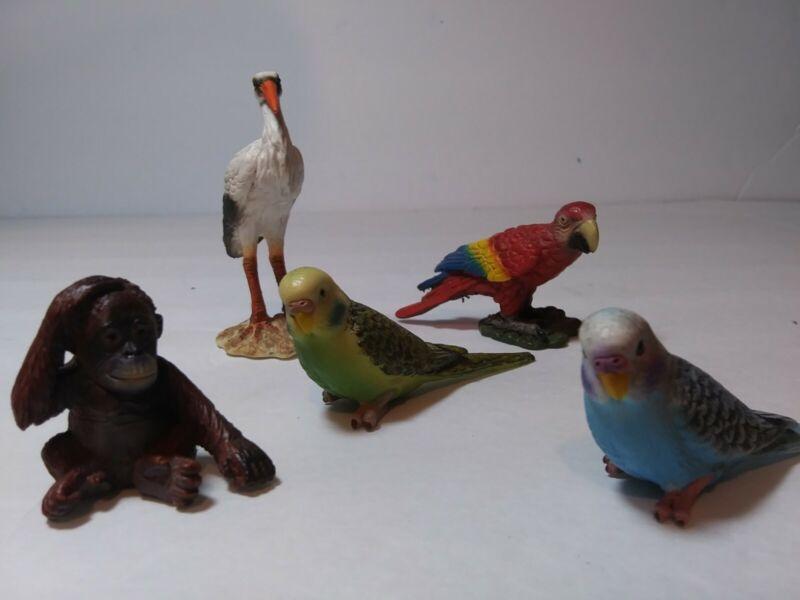 Schleich GERMANY ~ Bird Figures & Chimp ~ Lot