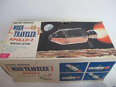 MOON TRAVELER APOLLO-Z SPACE SHUTTLE TIN TOY W/ BOX NOMURA WORKS VINTAGE 1969
