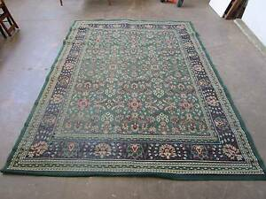 D5085 Green Navy Persian Floor Rug Mat Mount Barker Mount Barker Area Preview