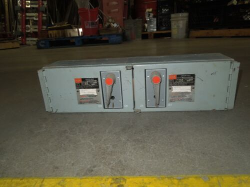 Fpe Qmqb3336r 30/30a 3p 600v Twin Fusible Switch Unit Used