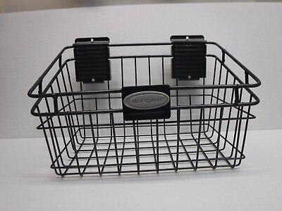 Suncast 8 X 12 Slat Wall Black Metal Basket New