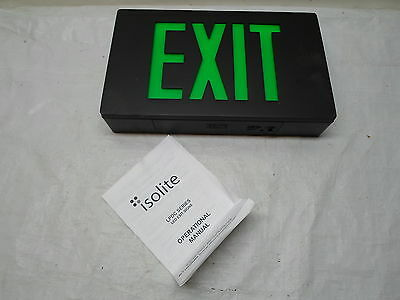 Black Green Isolite Lpdc Series Led Exit Sign Minor Knicks Scratches