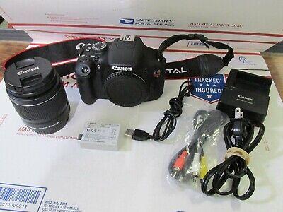 Canon EOS Rebel T3i 18.0MP Digital SLR Camera Kit 18-55mm Battery Charger Strap