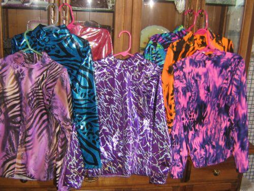 M girls CHOICE pattern  western pleasuare show slinky shirt leadline rail rodeo