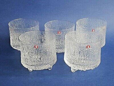 5 x Ultima Thule Whiskey Glasses by Tapio Wirkkala for Iittala 1960s