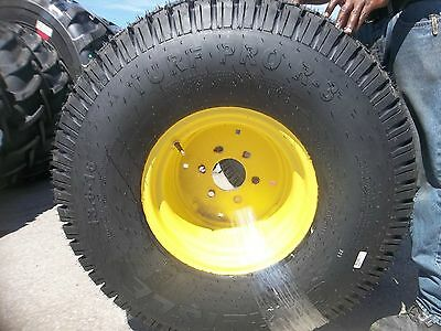 Two New 13.6x16 Carlisle John Deere 650 750 4 Ply Turf Tractor Tires On Wheels