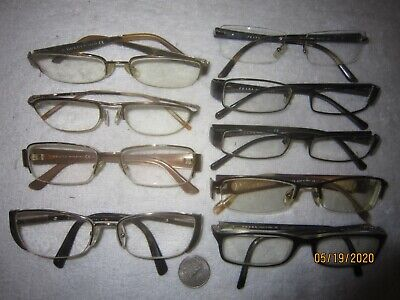 Mix Lot of 9 Gucci-Prada Eyeglasses VINTAGE Women Men WIDE BIG Office Hollywood