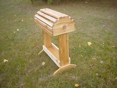 Handmade Pine Saddle Stand Rack W/Tray