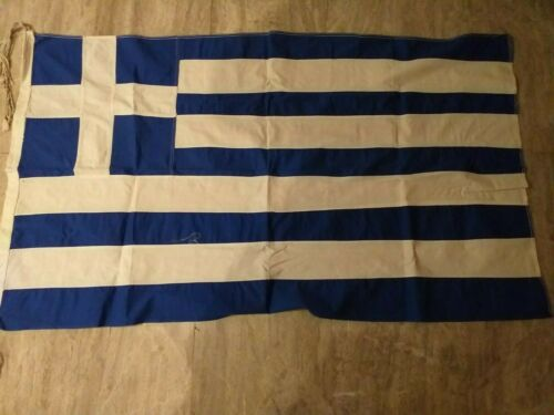 Vintage Greece Greek Cotton Flag 68x116cm!!